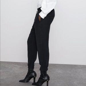 Zara NWT black jogging pants size small